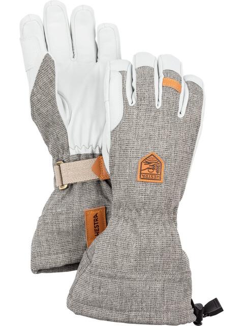Hestra M's Army Leather Patrol Gauntlet Gloves Light Grey
